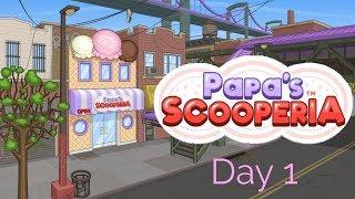 Papa's Scooperia To Go - Day 1 + Intro