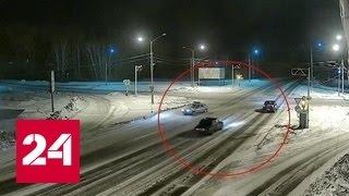 Пьяный водитель катал автоинспектора на капоте. Видео