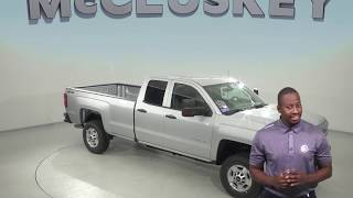190293 New 2019 Chevrolet Silverado 2500HD Work Truck Double Cab Silver 4WD Review, For Sale -