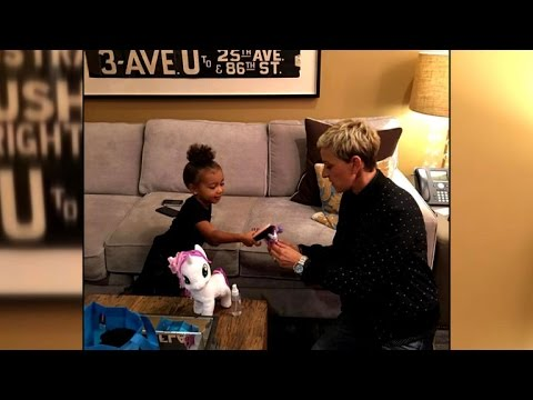 Kim Kardashian Shares Sweet 'My Little Pony' Moment With North West and Ellen DeGeneres
