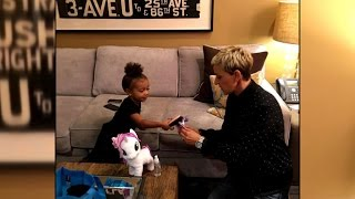 Repeat youtube video Kim Kardashian Shares Sweet 'My Little Pony' Moment With North West and Ellen DeGeneres