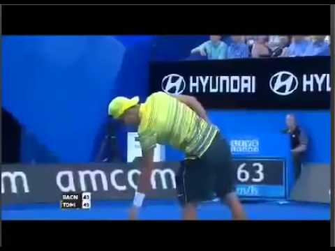 Milos Raonic vs Bernard Tomic Hopman Cup 2014 highlights
