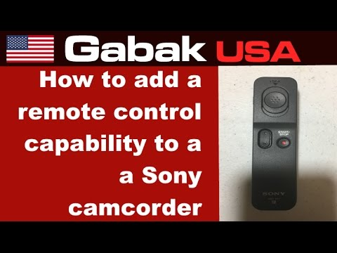 How to add a remote control capability to a Sony camcorder