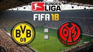 Fifa 18 bundesliga borussia dortmund : 1. fsv mainz 05   gameplay deutsch livestream