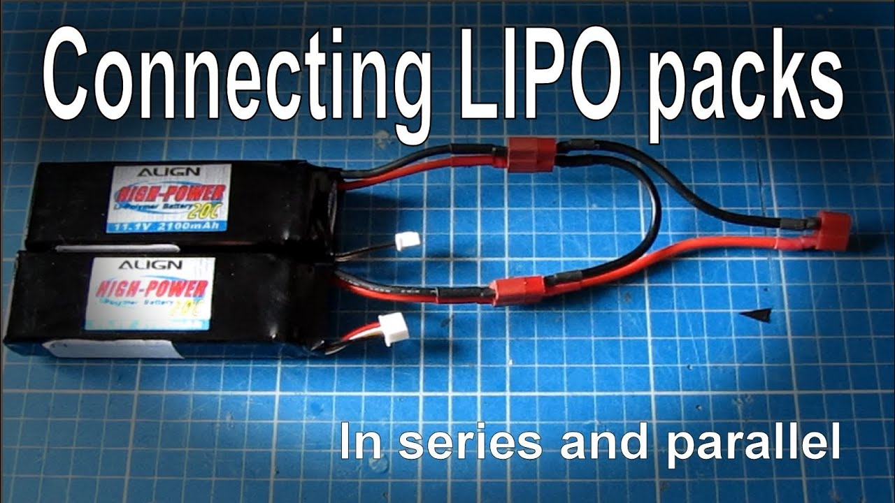 Connecting batteries in series or parallel (LIPO) - YouTube