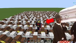 I made the Coffin Dance Meme Song using Minecraft Note Blocks