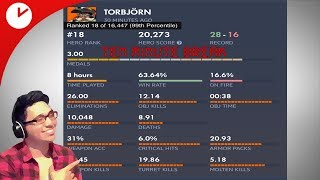 BEST TORBJORN ON PS4 PLAYS ON HIS SMURF TO HELP HIS SUBS | Overwatch Competitive | 1080p