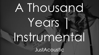 A Thousand Years - Christina Perri (Acoustic Instrumental)