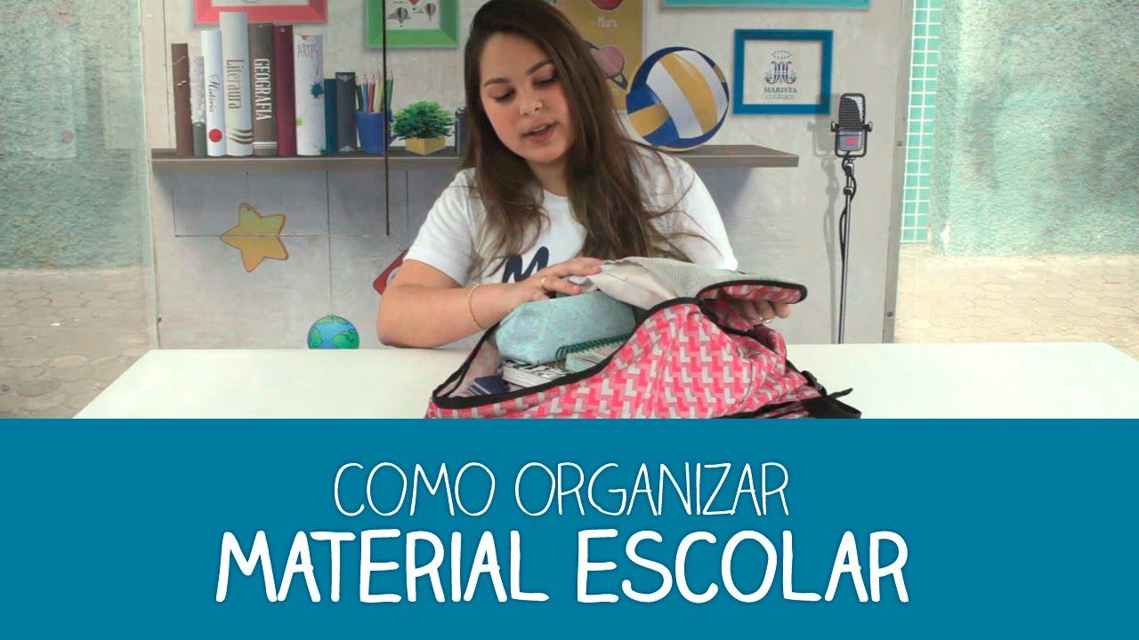 Tuca Artesanato Resende Costa ~ Como organizar o material escolar YouTube