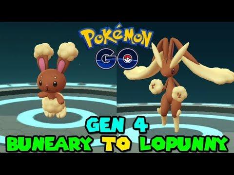 Evolving Buneary To Lopunny In Pokemon Go Pokemon Go Gen 4 Youtube