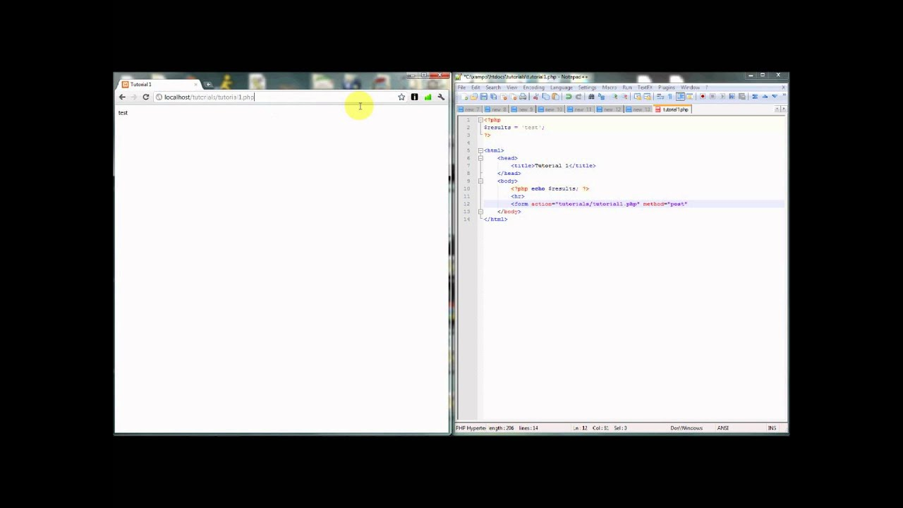 HTML/PHP Form Tutorial - YouTube