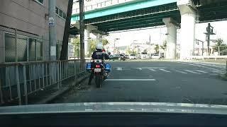 そのトラックはギリギリセーフ??大阪府警 青バイ 青バイ 検索動画 22
