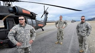 Washington National Guard soldiers from Joint Base Lewis-McChord have been aiding the fire suppression effort in Central Washington using Blackhawk helicopters to drop water. Cool weather and fire conditions grounded the birds Thursday but it gave crew time to reflect on the devastation.