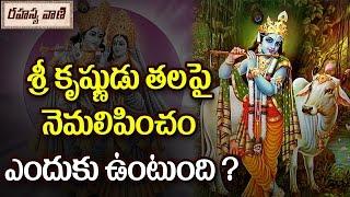 Why Krishna Has a Peacock Feather In His Crown?   కృష్ణునికి తలమీద నెమలీక ఎందుకుంటుంది..?