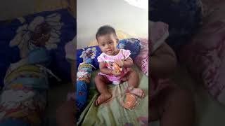 baby eat cake funny