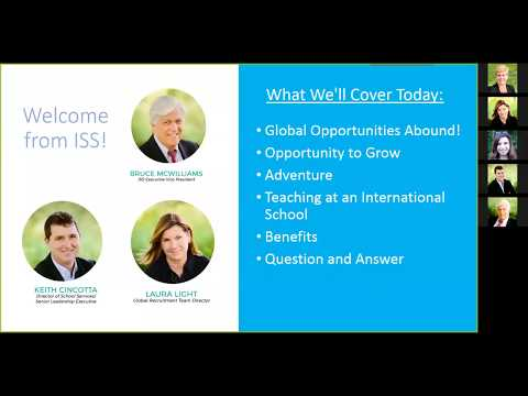 ISS Webinar- Teach Abroad? 5 Reasons Why You Should!
