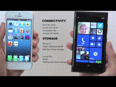Apple iPhone 5 VS Nokia Lumia 920 review