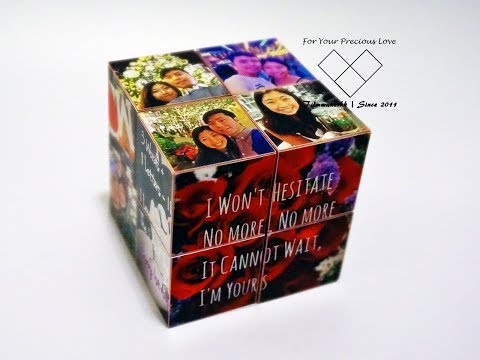 Diy Infinity Photo Cube, endless card, photo on wood gift