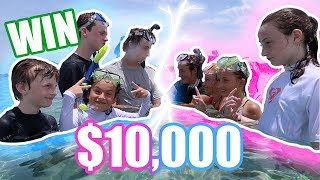 LAST TO LEAVE THE OCEAN WINS $10,000! Boys VS Girls!