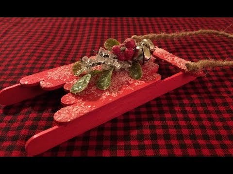 A Homemade Christmas Series---Ideas For Decorating Wooden Sled Ornaments