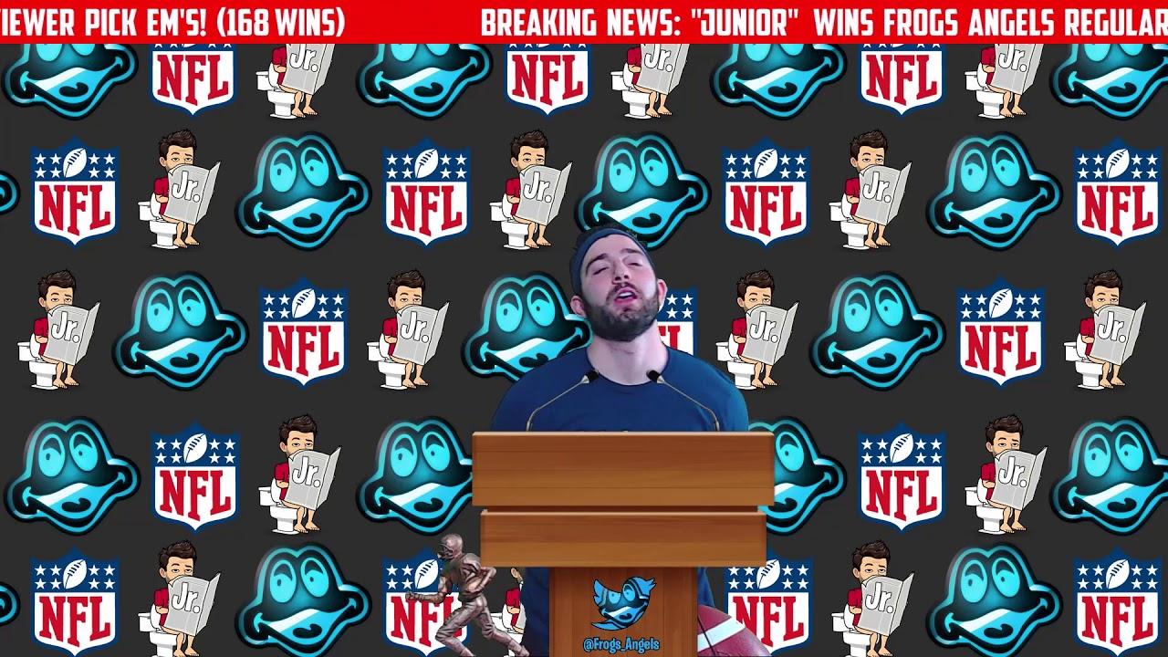 Junior Press Conference (2018 NFL Picks Champion) Original + Bloopers