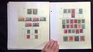 India 1854-1946 Mint and Used Stamp Collection on Leaves