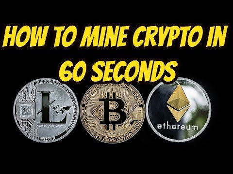 How To Mine Bitcoin In 60 Seconds