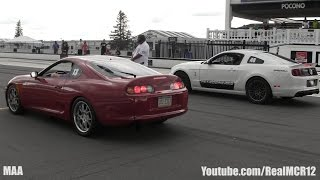800HP Toyota Supra vs 600HP Shelby GT500 || Toyota Supra vs. BMW F10 M5