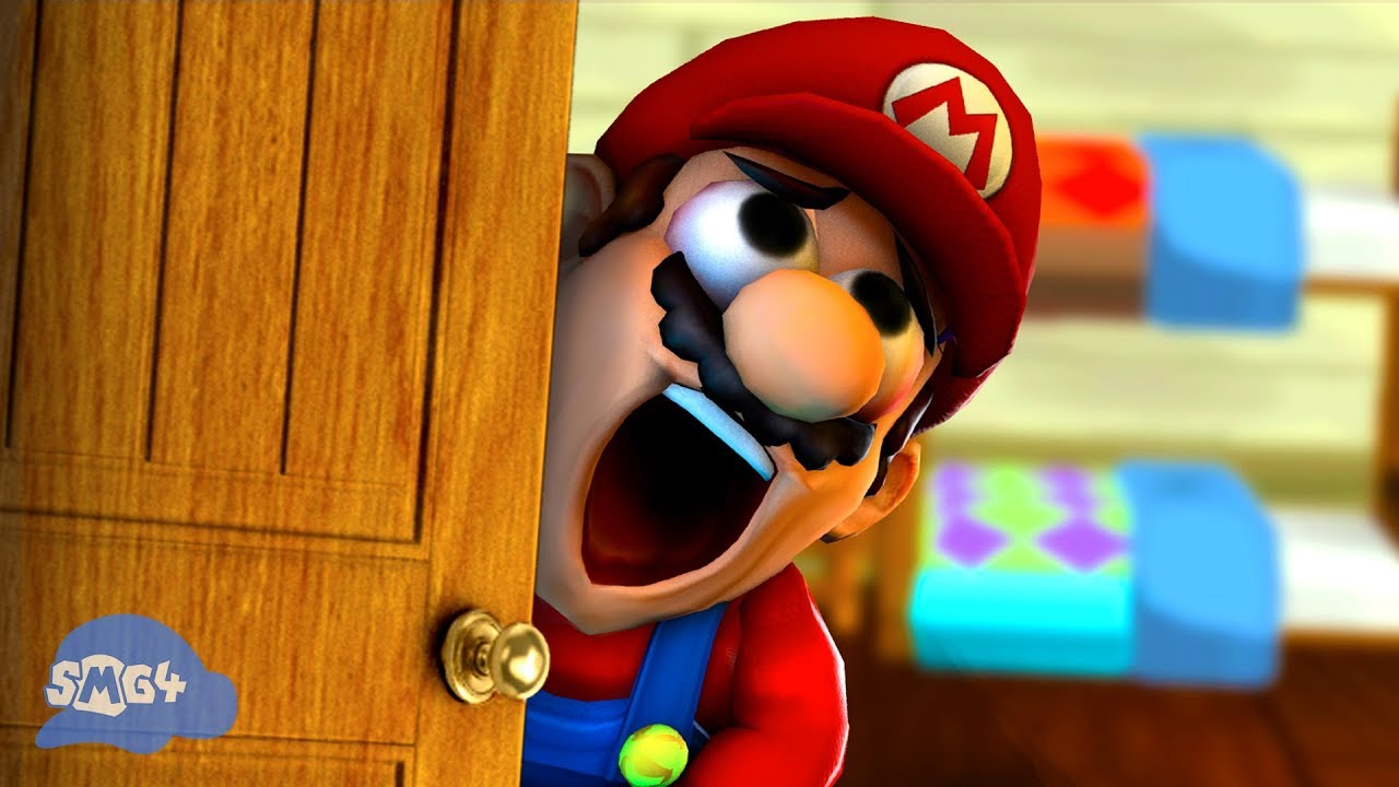 Smg4 Mario Gets His Pingas Stuck In The Door Youtube