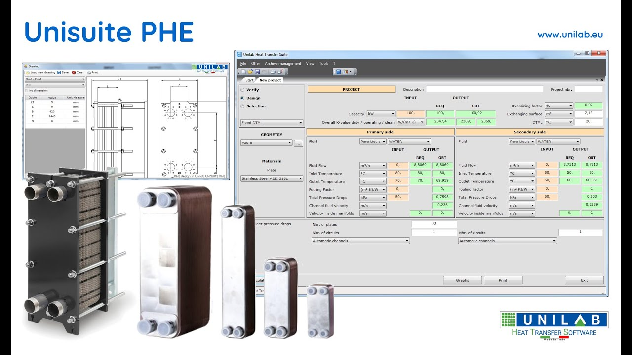 Unilab Unisuite - PHE | UNILAB - Heat Transfer Software