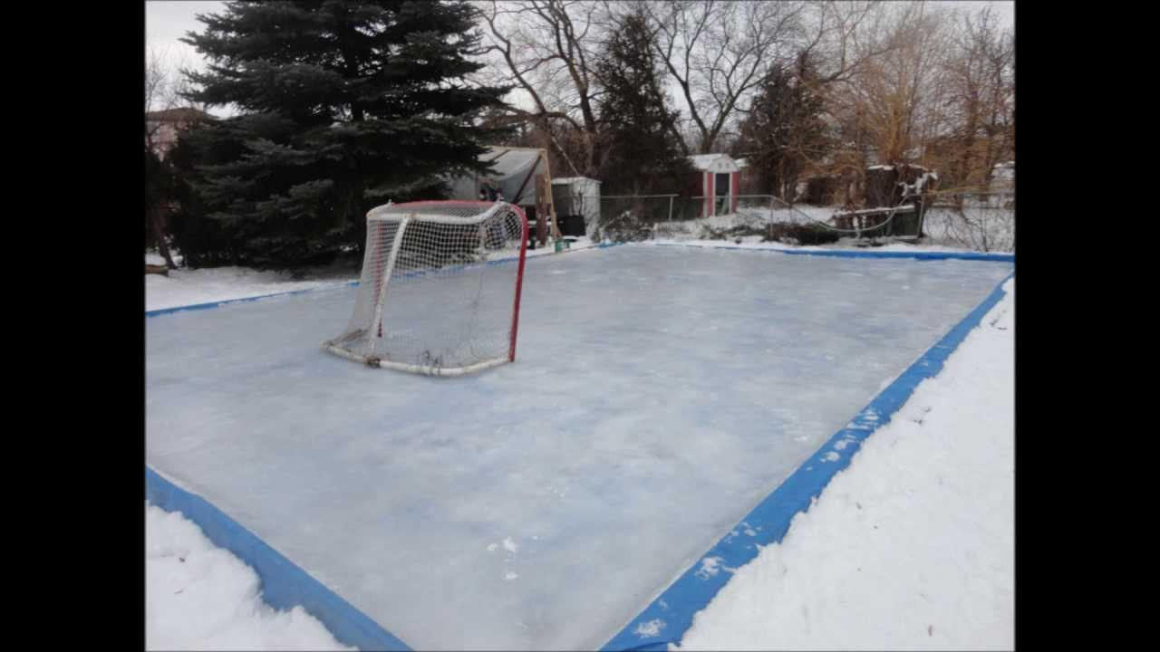 My Backyard Rink my backyard rink 2012-2013 - youtube