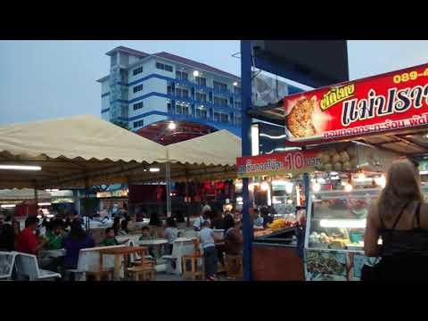 Thailand neighbourhood food centre - Similar to Singapore but with music