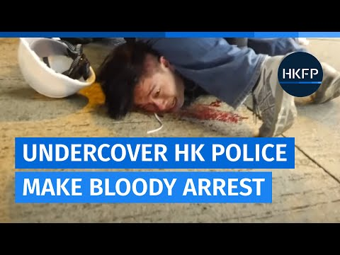 [Graphic] Hong Kong police make bloody arrest, assisted by officers suspected to be undercover