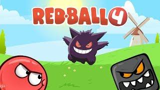 🏀 Мультик Красный мячик Игра для мальчиков RED BALL прохождение Приколы для детей