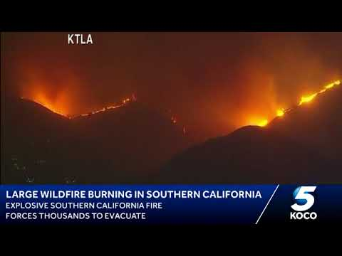Wildfires ravage southern California | Tuesday, 5 December 2017