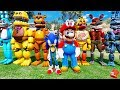 ANIMATRONICS SUPER MARIO ODYSSEY SONIC ADVENTURE SQUAD! (GTA 5 Mods For Kids FNAF RedHatter) mp3 indir