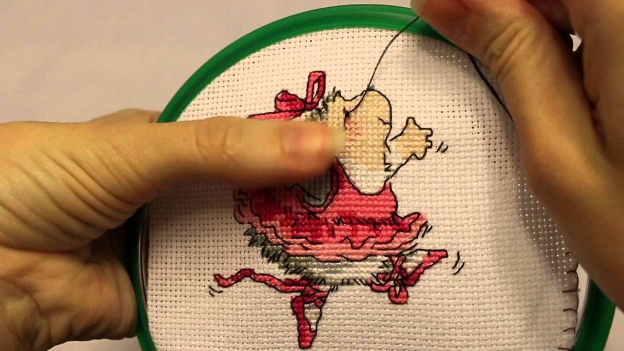 Вышивка крестиком как сделать узелок