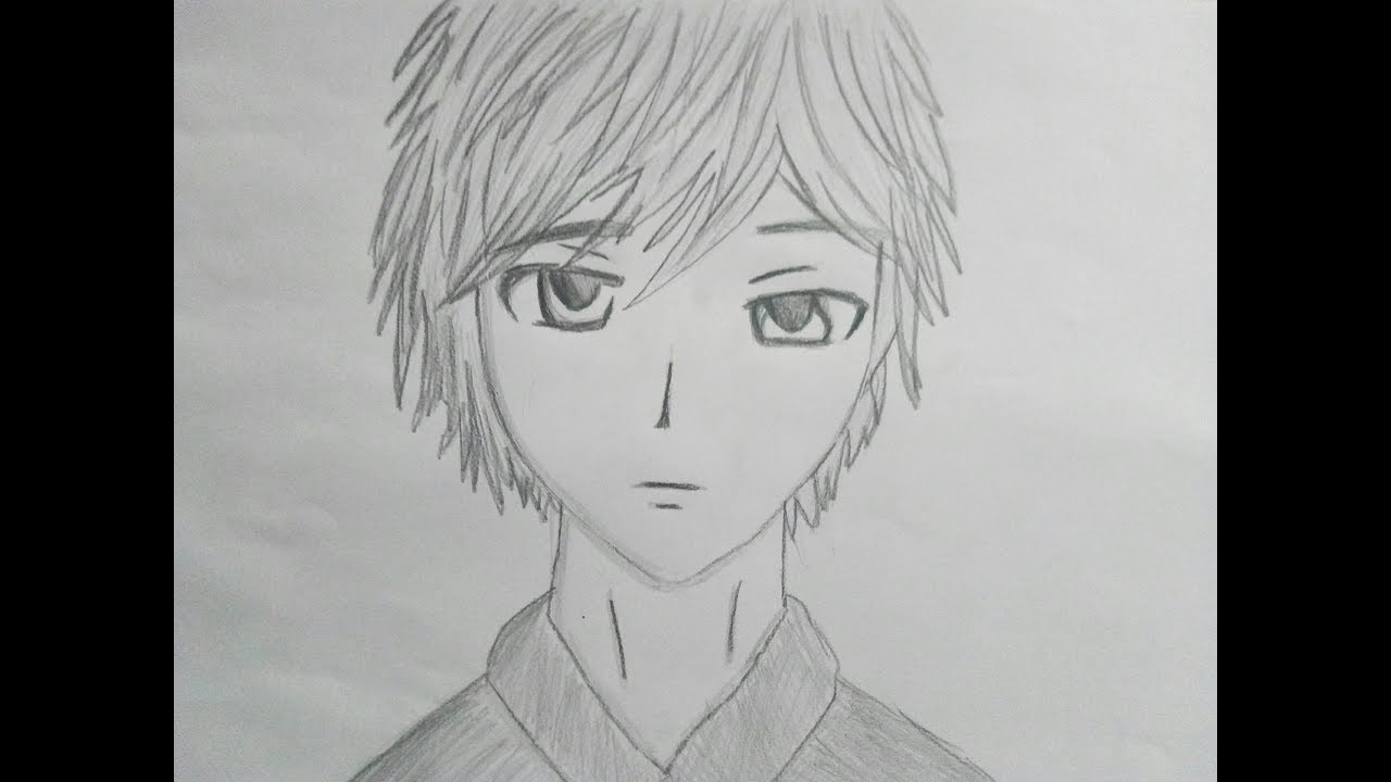 How To Draw Anime Boy Male Face Tutorial Youtube