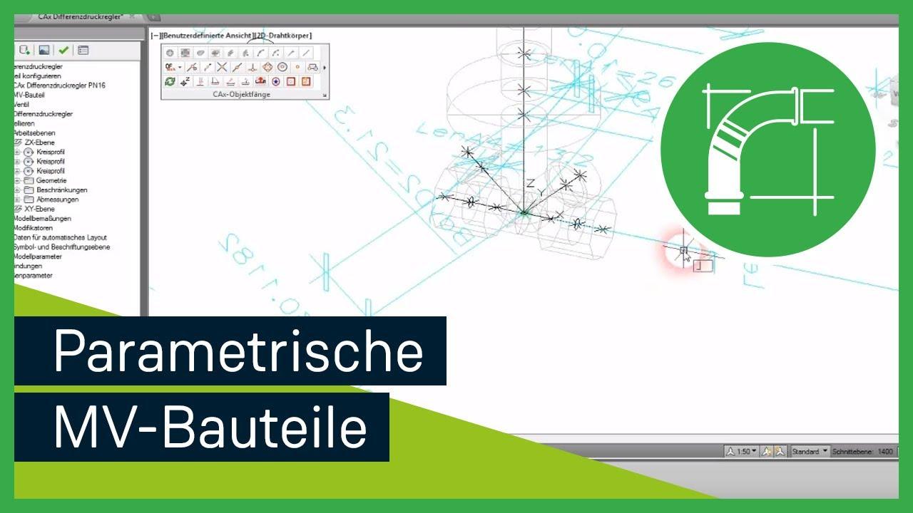 AutoCAD MEP 2014   Erstellen eines parametrischen MV-Bauteils ...
