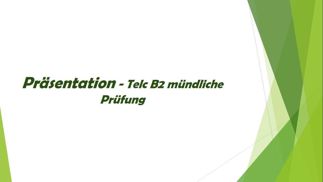 Präsentation über eine Reise - mündliche telc B2 Prüfung
