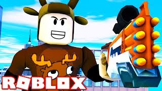 YOUTUBER NERF WAR IN ROBLOX! (Robox Nerf Wars)