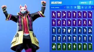 DRIFT (STAGE 5) SKIN SHOWCASE WITH ALL FORTNITE DANCES & EMOTES
