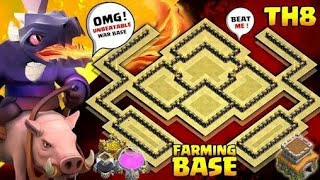 BEST! Town Hall 8 TH8 TROPHY Base and Farming Base 2018 With New Update!! TH8 Base - Clash of Clans