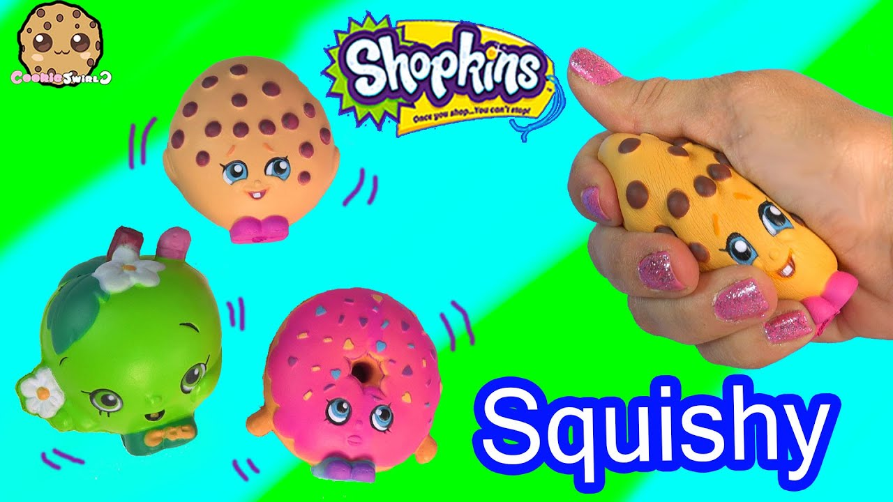 fa76bde934 3 Shopkins Squishy Stress Balls from Season 1 Kooky Cookie Video Toy Review  - Cookieswirlc