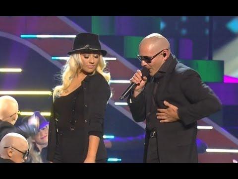 Christina Aguilera & Pitbull Feel This Moment at 2013 KCAs