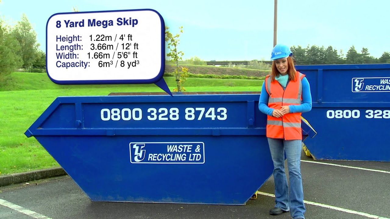 Skip Hire Info 8 Cubic Yard Mega Skip Available From