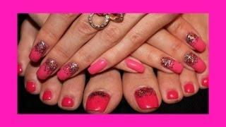 Гель лак + блёстки МАСТЕР КЛАСС(Покрытие ногтей гель - лаком с разноцветными блестками. Очень красивый,яркий дизайн ногтей. Смотрите мои..., 2013-05-08T20:09:40.000Z)