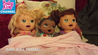 BABY ALIVE Sleepover + Haul Compilation with Maddy + Elsa + Garbage Bowls + Brownie Sundaes