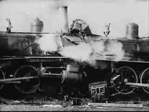 BFI Fundamentalism vs Evolution (1925) steam train crash - YouTube
