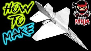 How To Fold: Paper F-16 Airplane